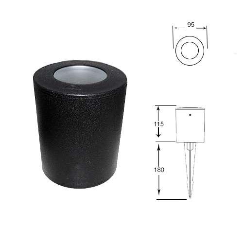 Franca 90 Black LED 3.5W Spike Light