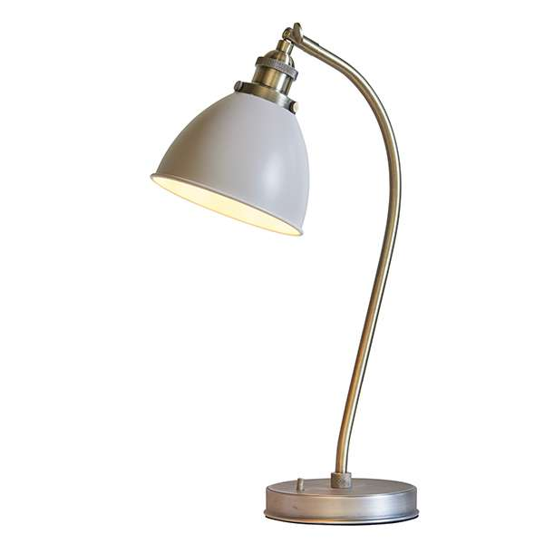 Franklin Table Lamp Taupe & Antique Brass