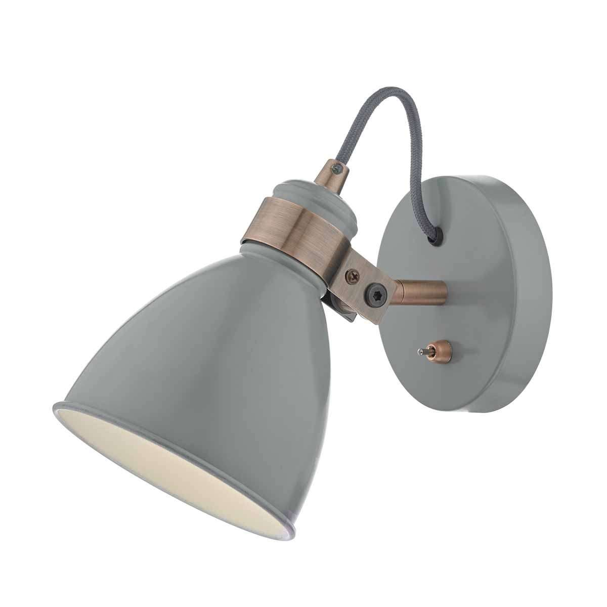 Frederick Wall Light Grey & Copper