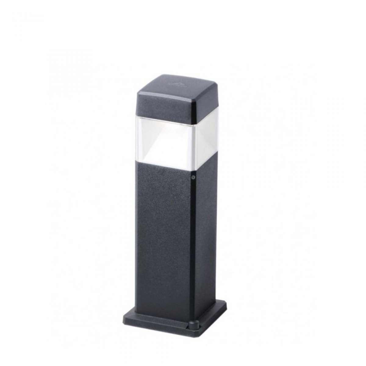 Fumagalli ELISA500/LED7BL Elisa 500mm Black Clear LED 7W GX53 Bollard Post Light