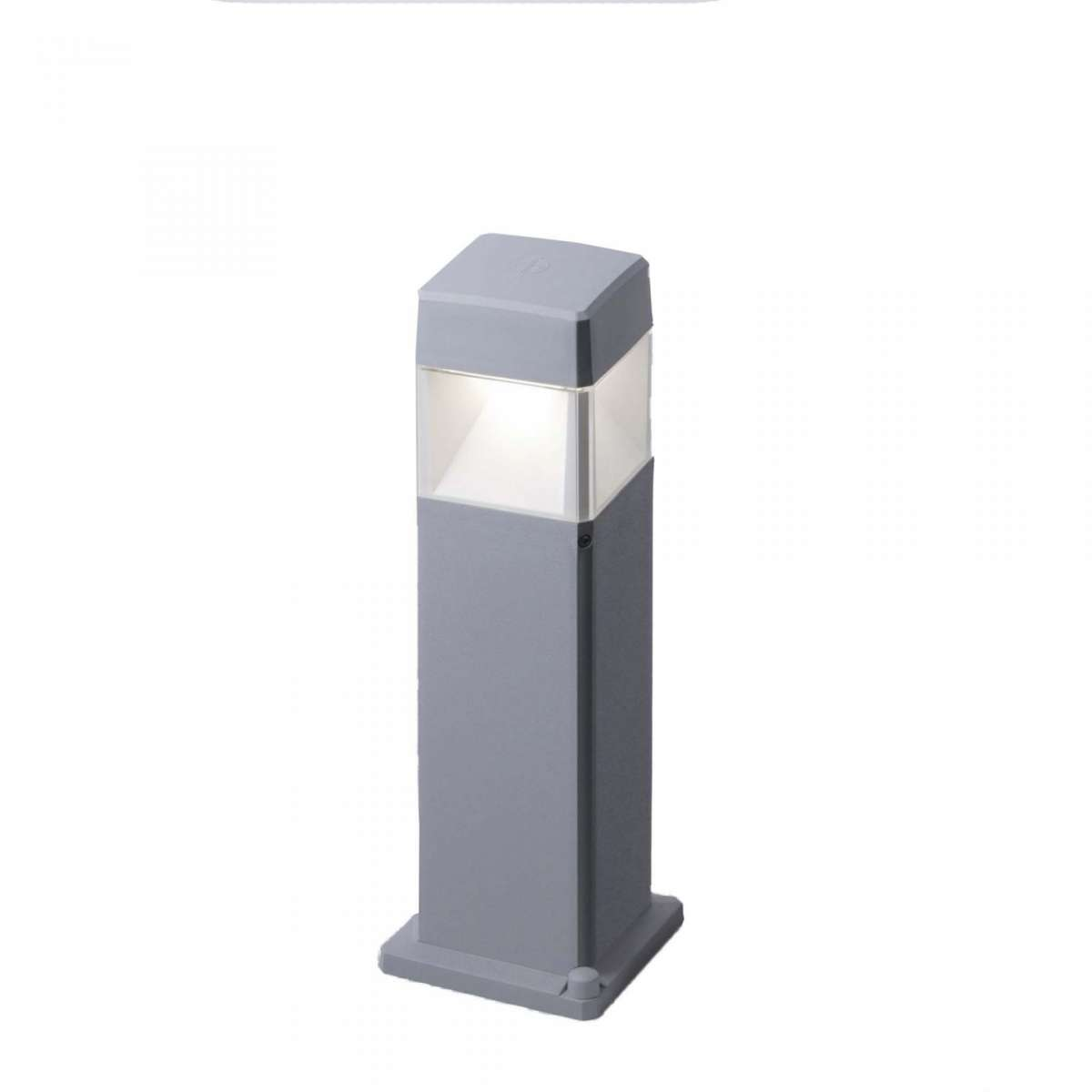 Fumagalli ELISA500/LED7GY Elisa 500mm Grey Clear LED 7W GX53 Bollard Post Light