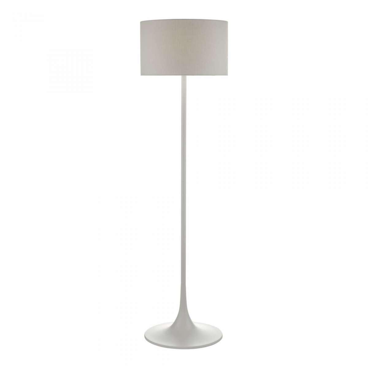Funchal Floor Lamp Grey with Shade