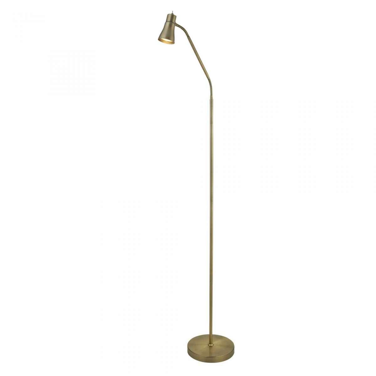 Fusion Antique Brass Floor Lamp with Flexi Head