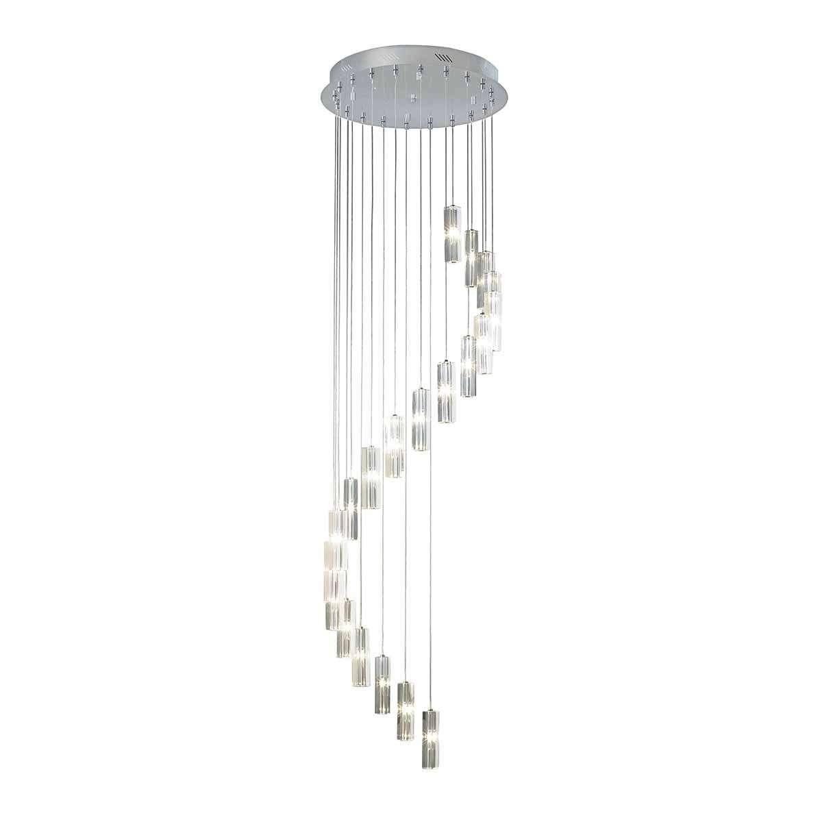 Galileo 20 Light Cluster Pendant Polished Chrome LED 3M Drop