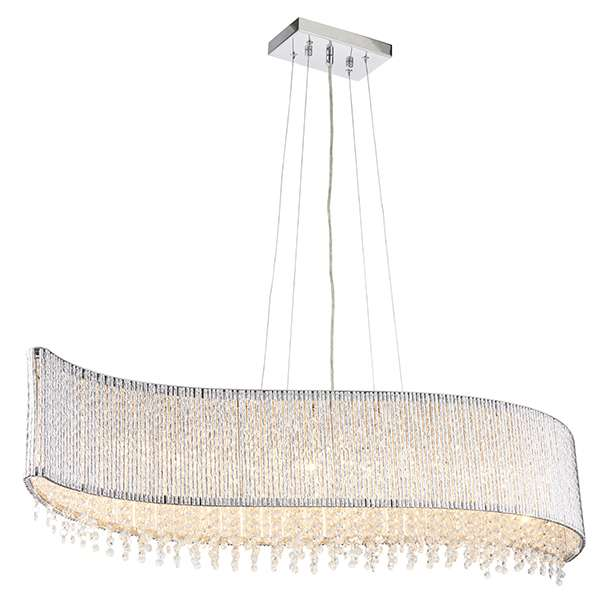 Galina 8 Light Crystal Pendant in Chrome Finish