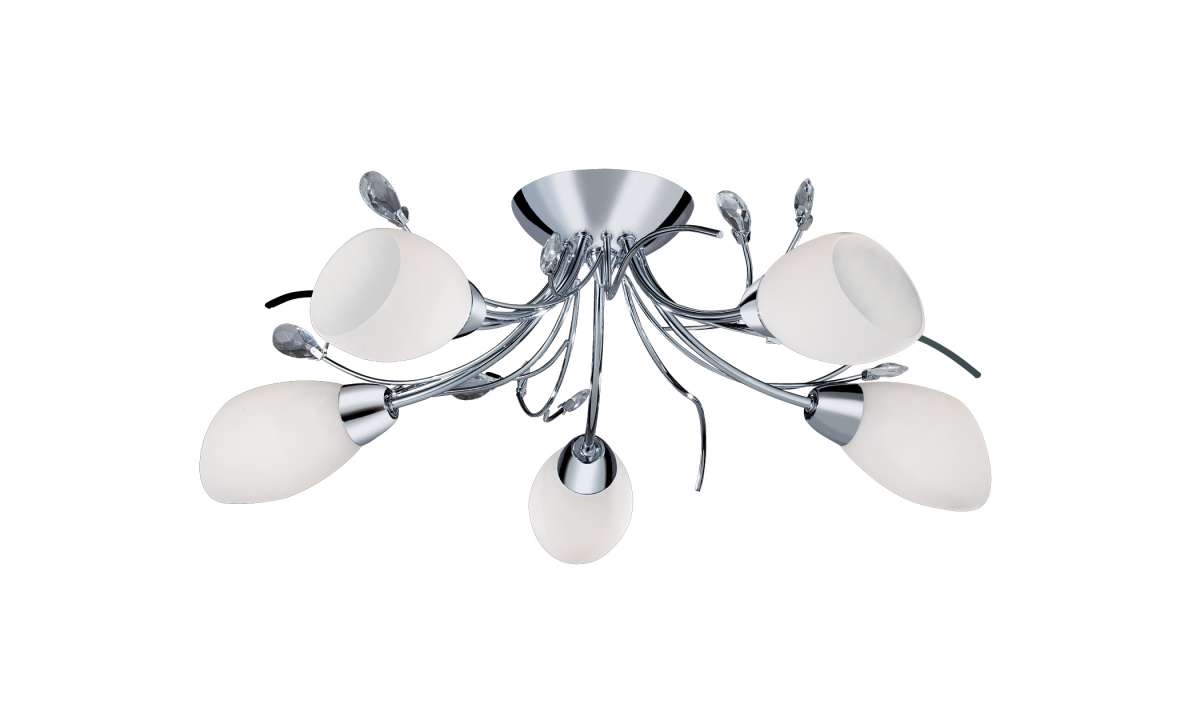 Gardenia 5-Light Polished Chrome Semi-Flush Fitting