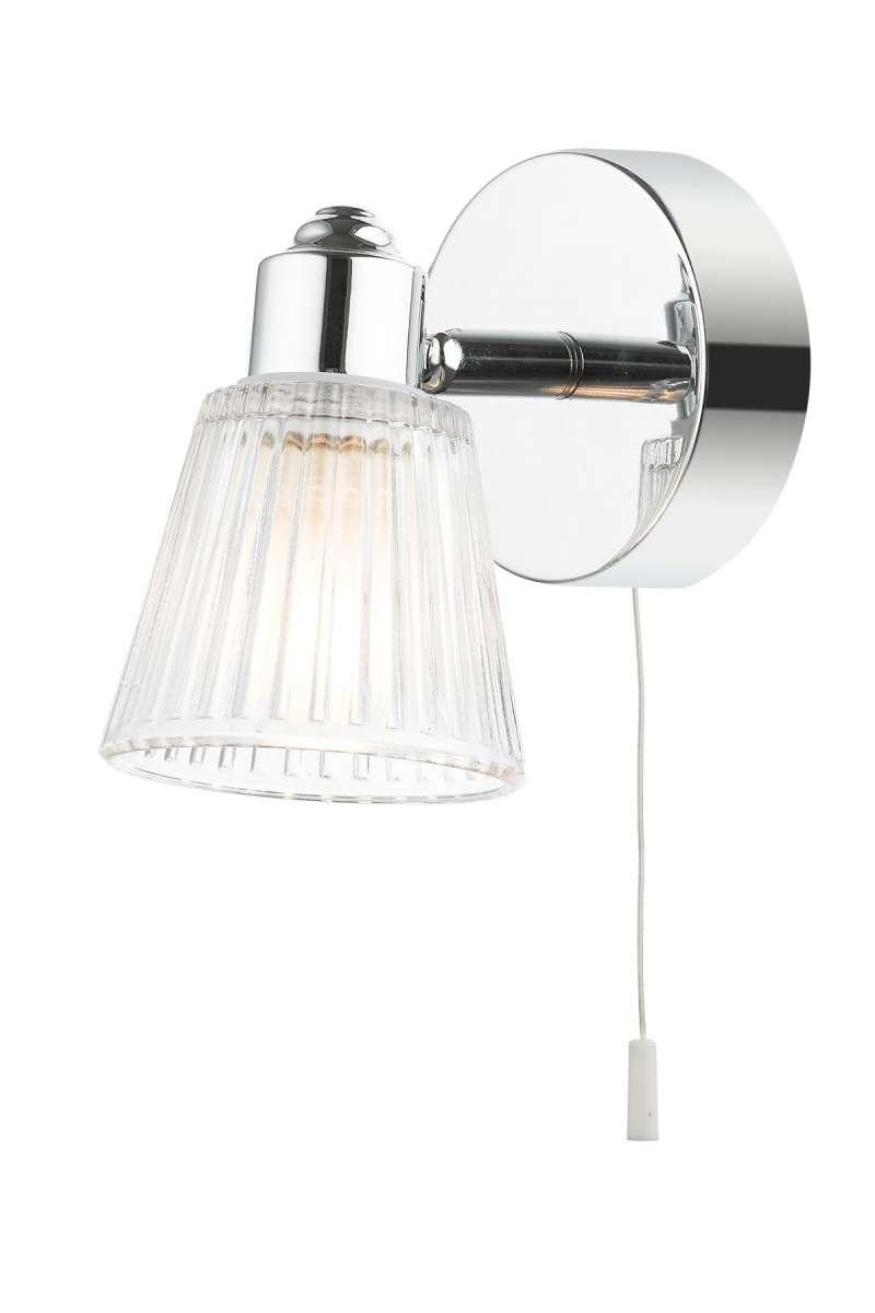 Gatsby 1 Light Bathroom Wall Light Polished Chrome