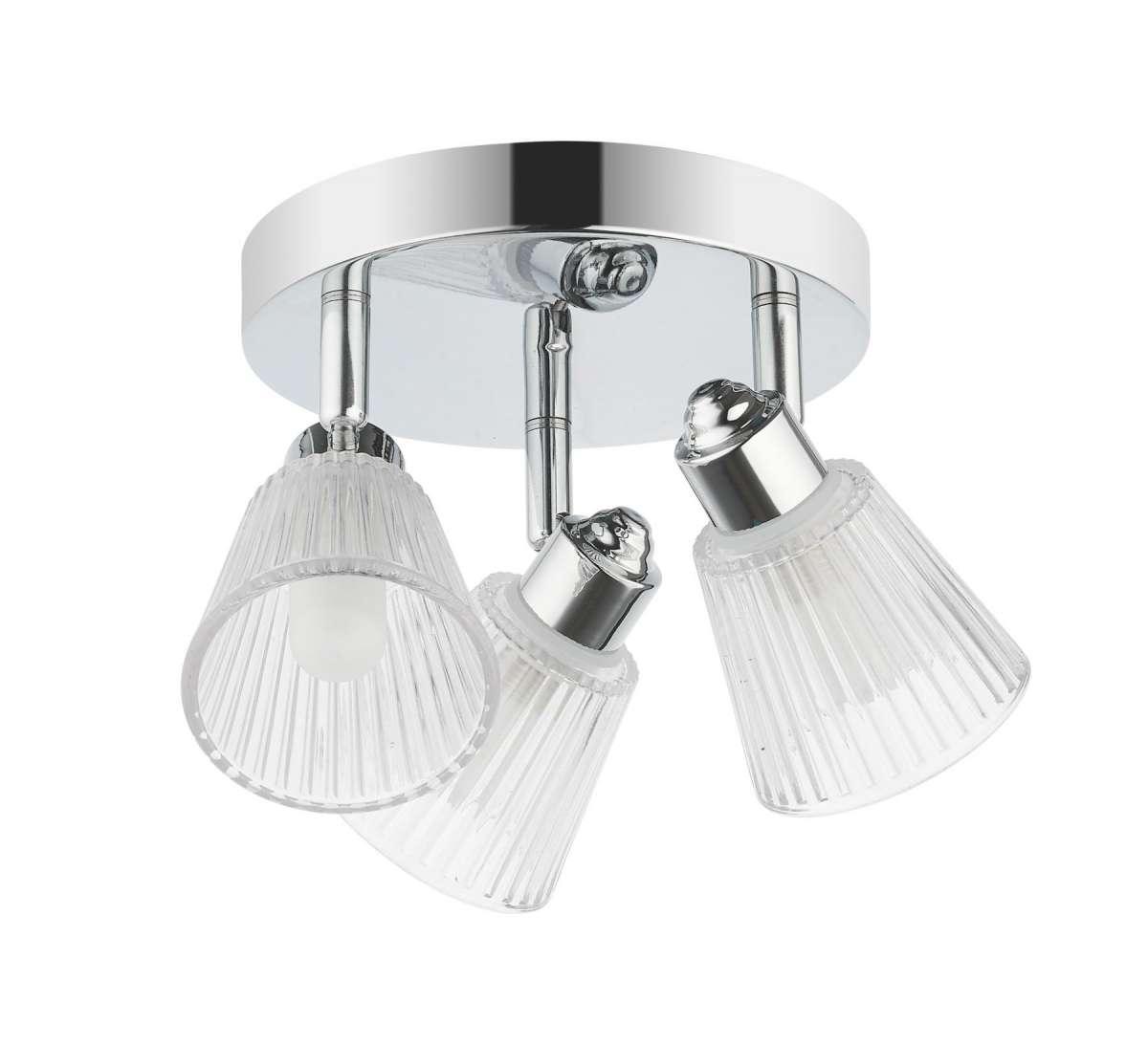 Gatsby 3 Light Bathroom Ceiling Light Polished Chrome