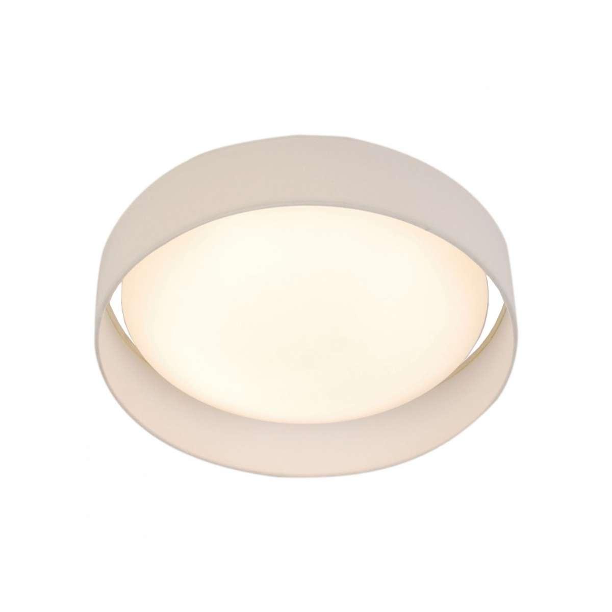 Gianna 1 Light 370mm Flush Ceiling Light White Shade