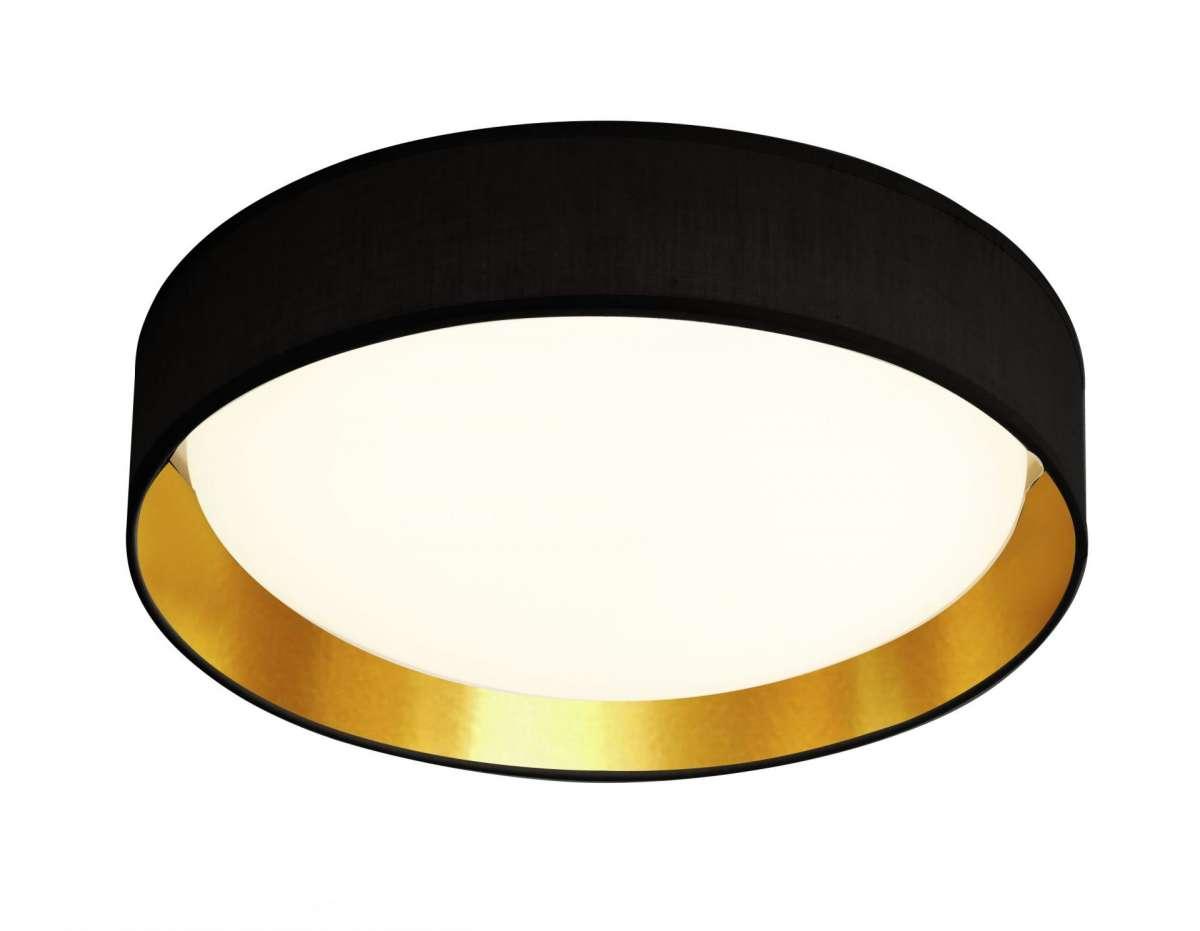 Gianna 1 Light 500mm Flush Ceiling Light Black Gold Shade