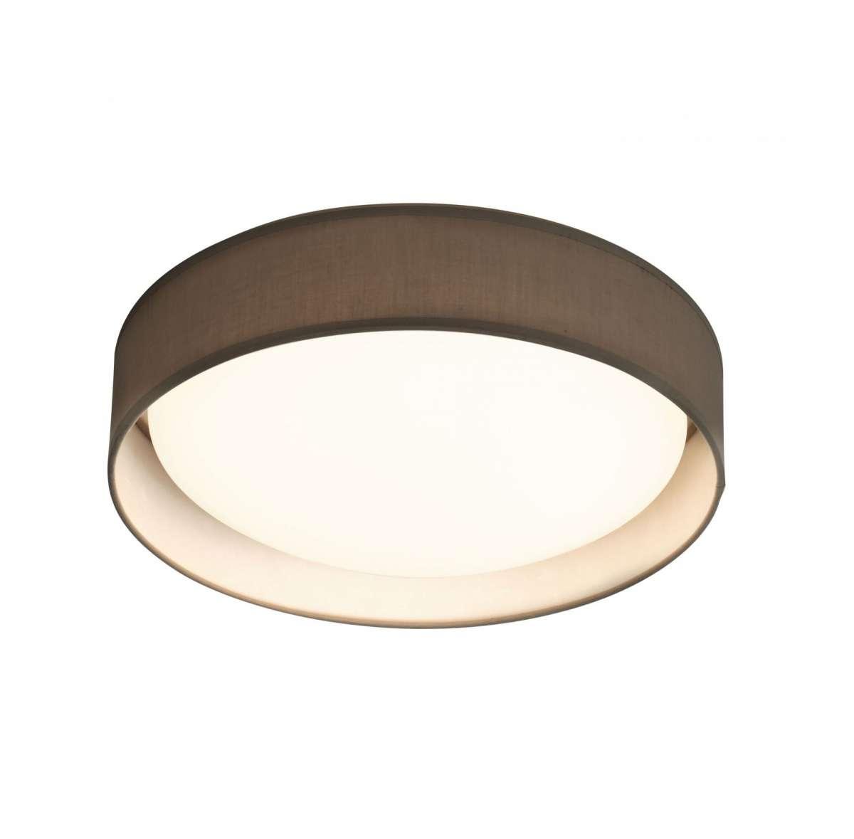 Gianna 1 Light 500mm Flush Ceiling Light Grey Shade