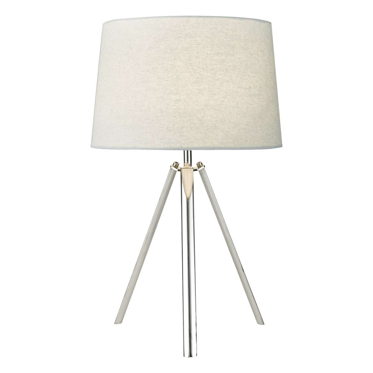 Griffith Table Lamp Polished Chrome Complete with Shade