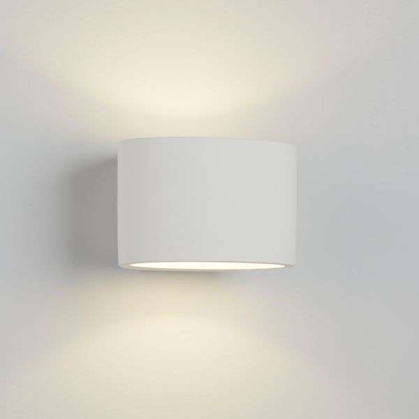 Gypsum Oval Plaster Wall Light