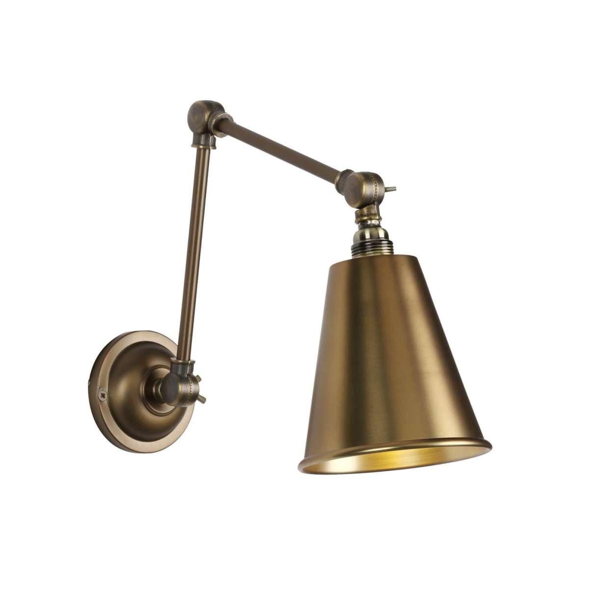 Hackney Wall Light Antique Brass