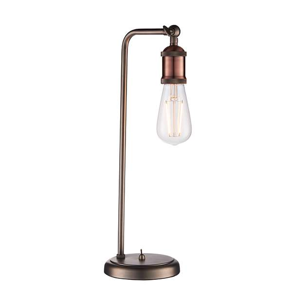 Hal Table Lamp in an Aged Copper Finish