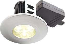 Halers 7.9W Natural White LED Fire Rated Downlight Brushed Aluminium