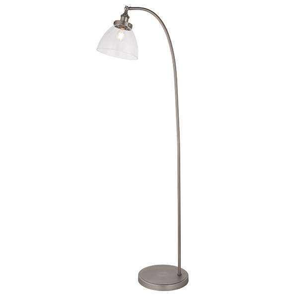 Hansen Floor Lamp in Brushed Silver Finish
