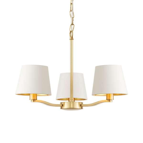 Harvey 3 Light Pendant in Satin Gold Finish