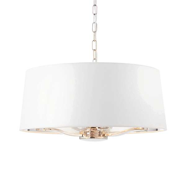 Harvey 3 Light with Drum Shade in Nickel Finish