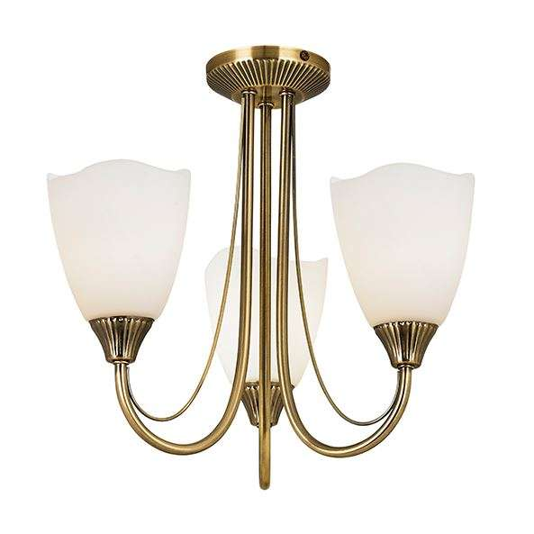 Haughton 3 Light Semi Flush 60W