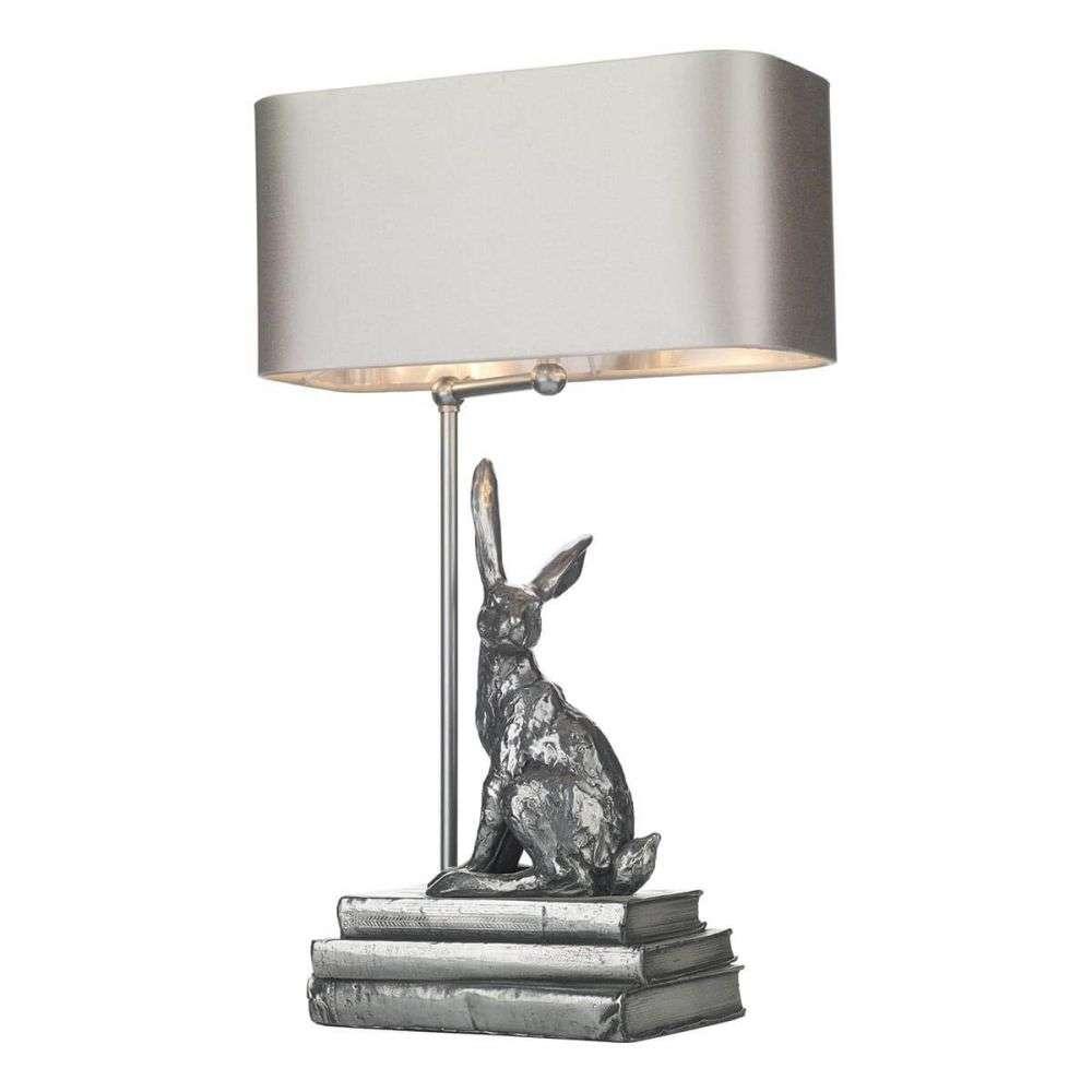 Hopper Rabbit Table Lamp Pewter