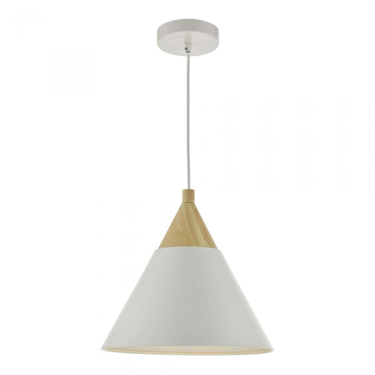 Ilory 1 Light Pendant Ivory And Natural Wood