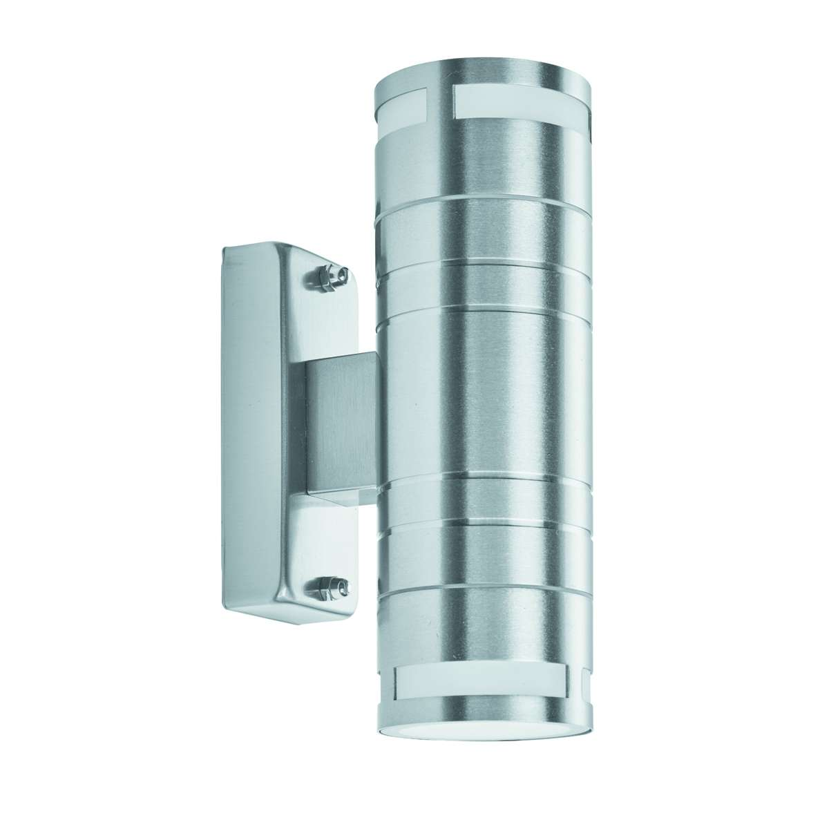 Ip44 StainlessSteel 2 Light Outdoor Wall Light With Clear Glass