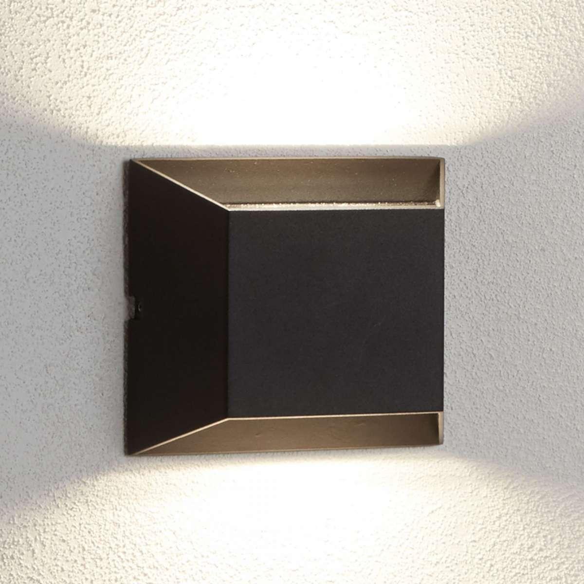LED Outdoor 2lt Wall Bracket, Black