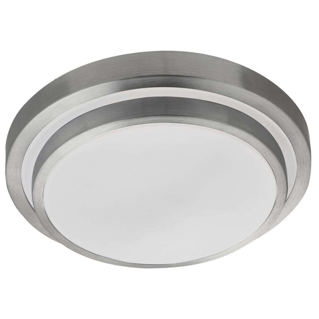 Led Bathroom P44 2 Tier Flush, Aluminimum Trim, White Shade