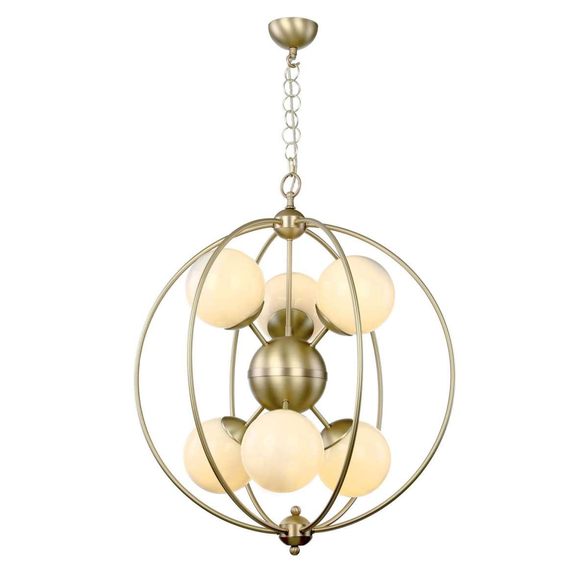 Liberty 6 Light butter brass pendant