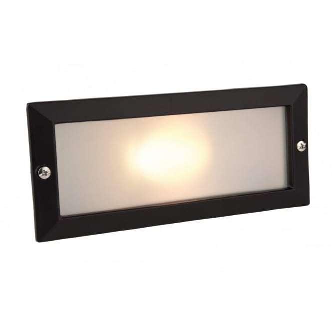 Minimalist Black Outdoor Brick Light Without Black Louvre