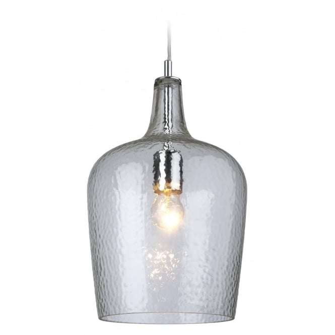 Modern Chrome Glass Ceiling Kitchen Bell Shade Pendant