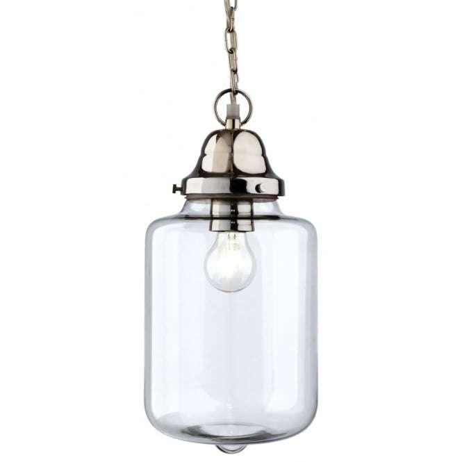 Modern Chrome Glass Jar Ceiling Light Pendant