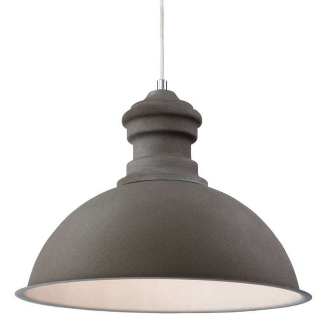 Modern Concrete Dome Shade Ceiling Pendant Light Fitting
