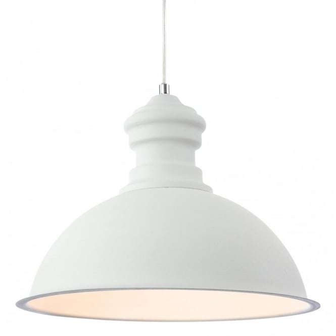 Modern White Rough Sand Dome Shade Ceiling Pendant