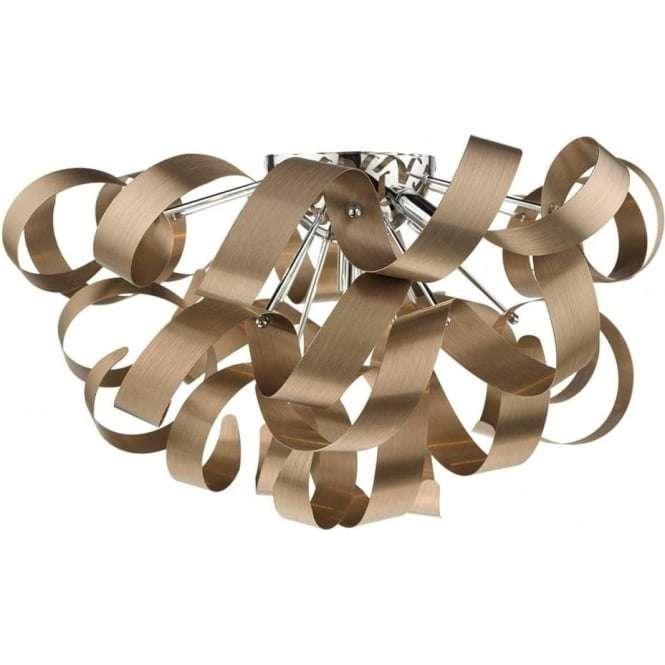 Rawley 5 Light G9 Flush Brushed Copper