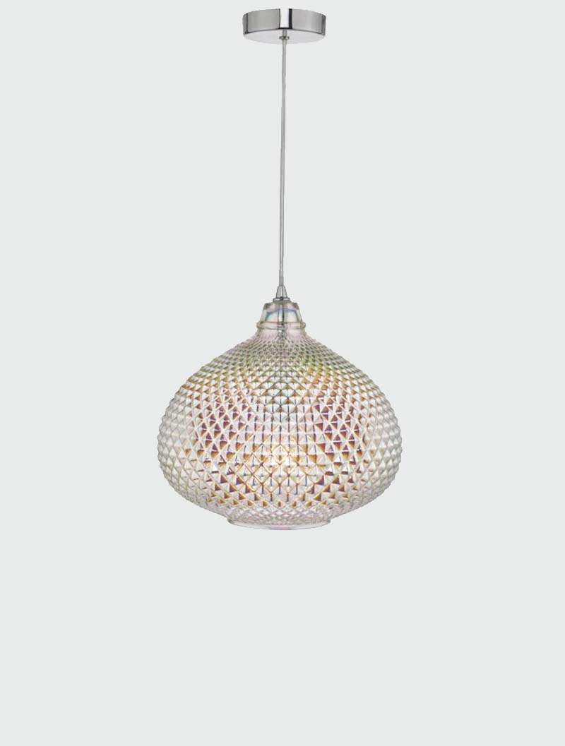 Roisin Pendant Glass & Polished Chrome