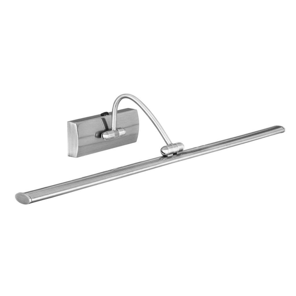 SATIN SILVER 81 LED PICTURE LIGHT WITH ADJUSTABLE HEAD