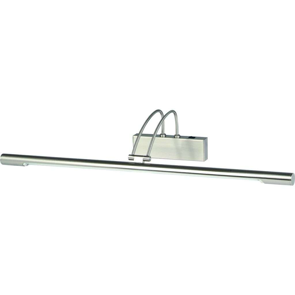 SATIN SILVER PICTURE LIGHT WITH ADJUSTABLE HEAD