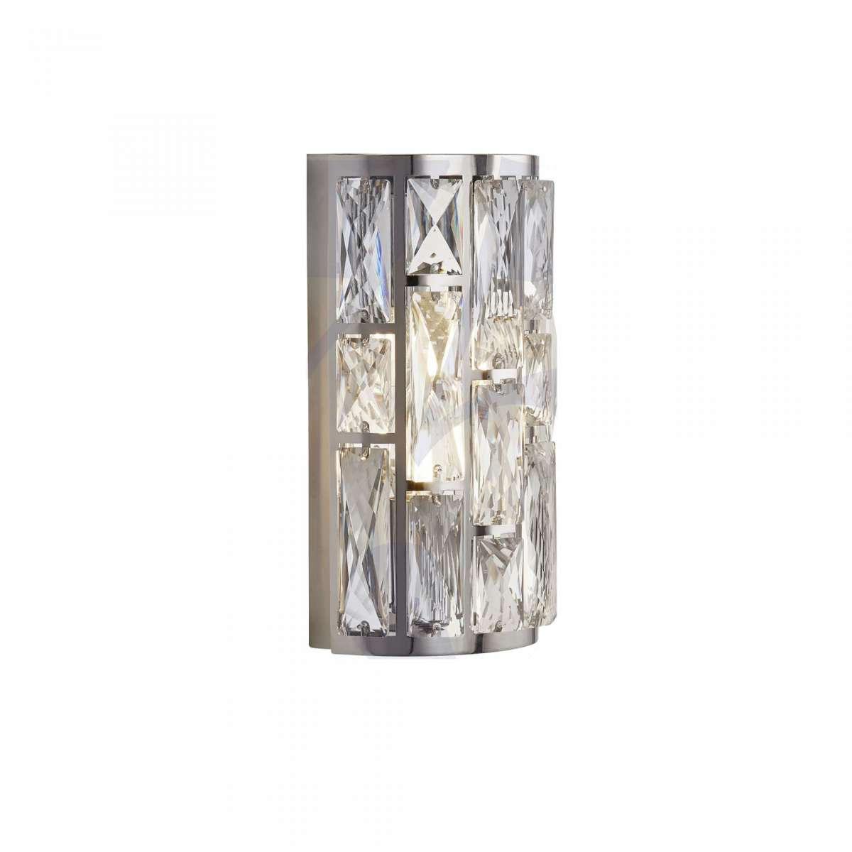 Searchlight 6582-2CC Bijou 2 Light Chrome Wall Light With Crystal Glass