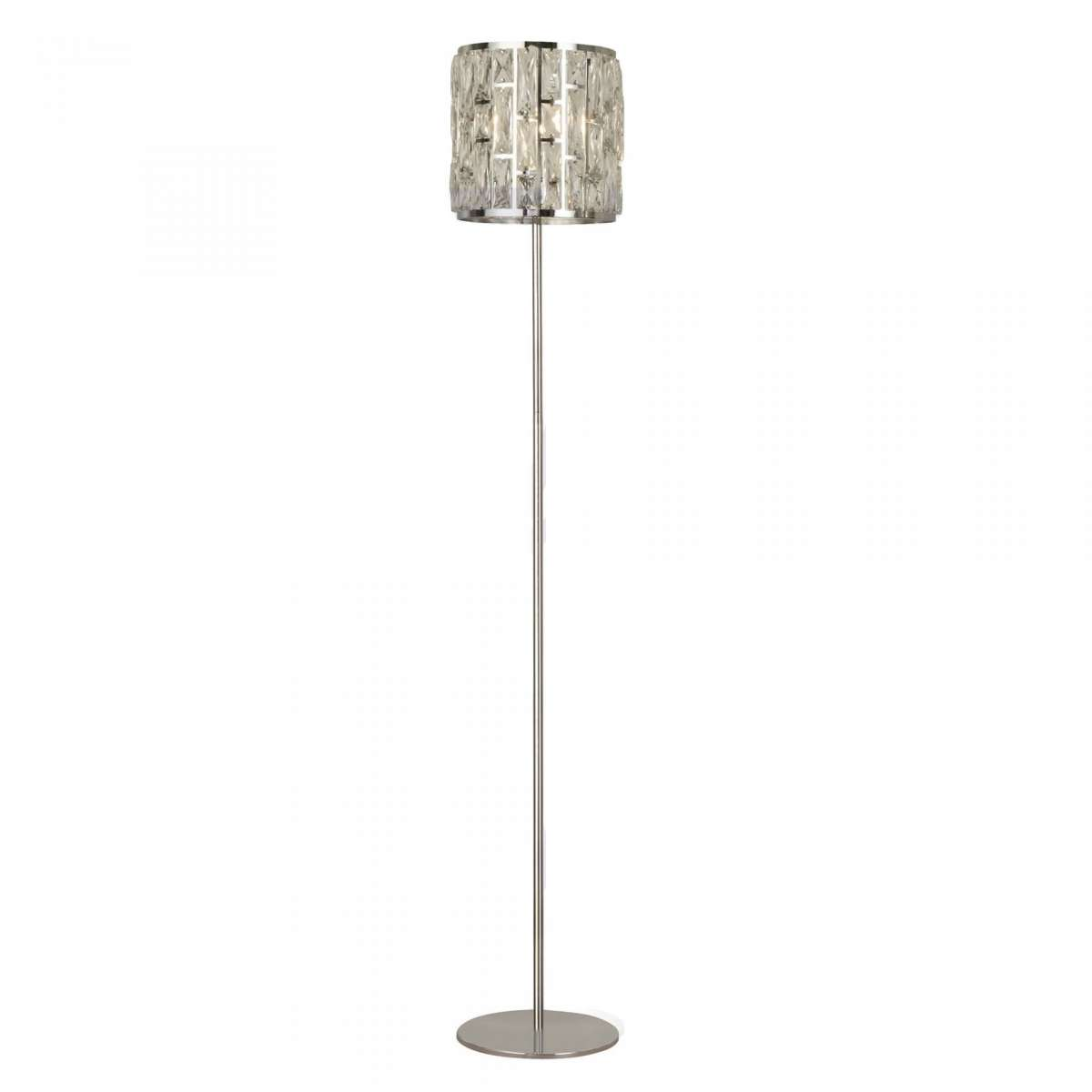 Searchlight 6589CC Bijou 1 Light Chrome Floor Lamp With Crystal Glass