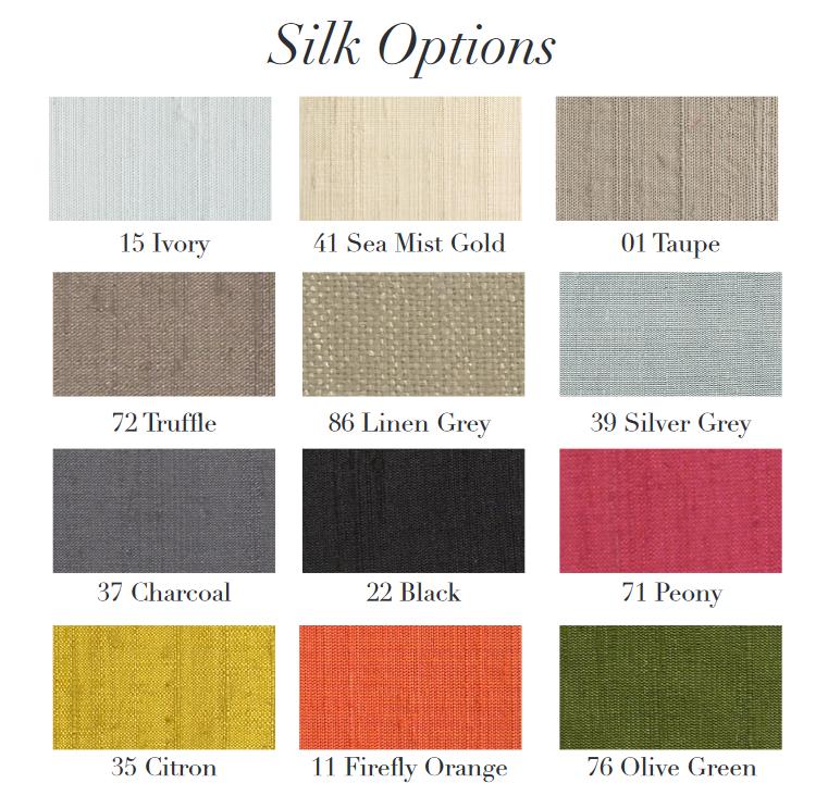 Shallow Drum 100% Silk Shade 45cm Dia 32.5cm H - 12 Colours