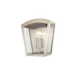 Stainless  Steel, Outdoor Curved Box Lantern - Stainless  Steel
