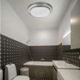 18W LED Bathroom IP44 2 Tier Flush Fitting With White Shade