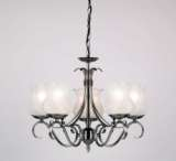 5-Light Antique Silver Fitting
