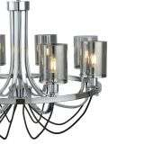 9048-8CC Catalina 8 Light Chrome With Smoked Glass Shades