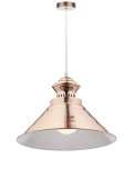 Dauphine 1-Light Copper Pendant