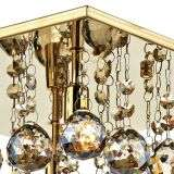 Abacus 4 Light Polished Gold Flush Fitting