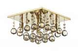 Abacus 4-Light Polished Gold Flush Fitting