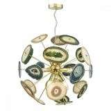 Achates 9 Light Pendant Gold & Agate